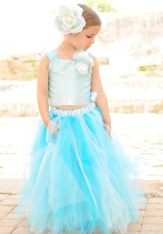 Aqua Devine Lavish Tutu Dress Set - MelissaJane Designs