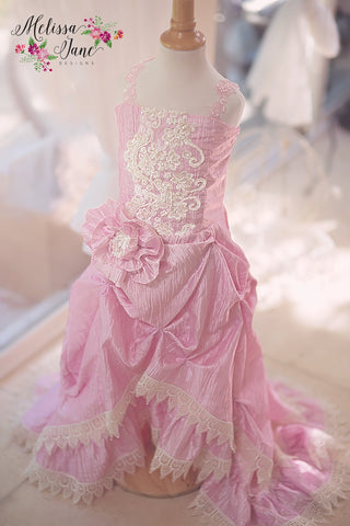 High Low Girls Soft Pink Dress