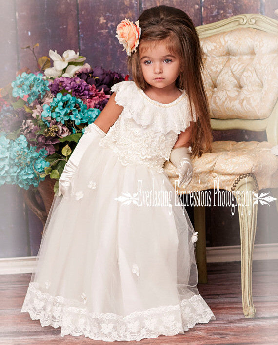 Exquisite angel flower girl dress melissajanedesigns quality ostrich dress flower girl dress girls feather dress melissajane melissajane boutique mightylinksfo Image collections