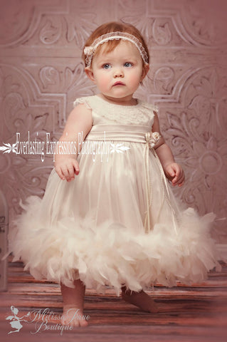 Infant Feather Baby Dress