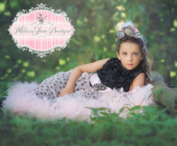 Bows And Ribbons Pretty Flower Girl Dress Melissajanedesigns