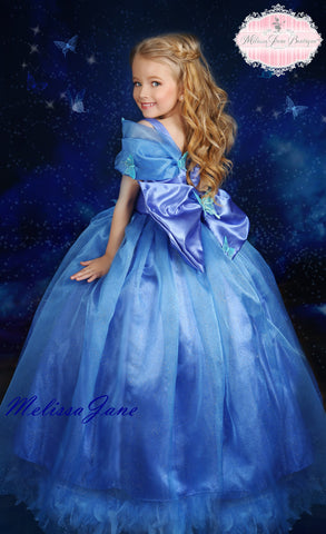 Girls Feather Cinderella Dress