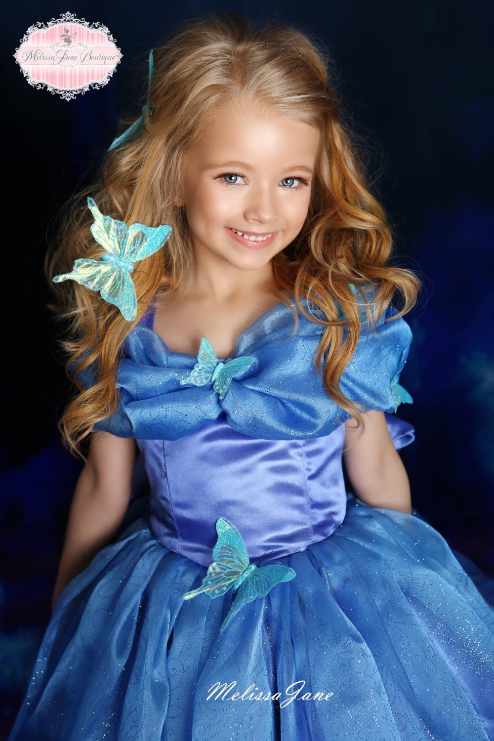 76d18964c60 Inspired Cinderella Blue Movie Princess Dress - with a touch of ...