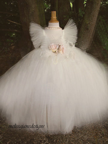 ivory tutu dress communion