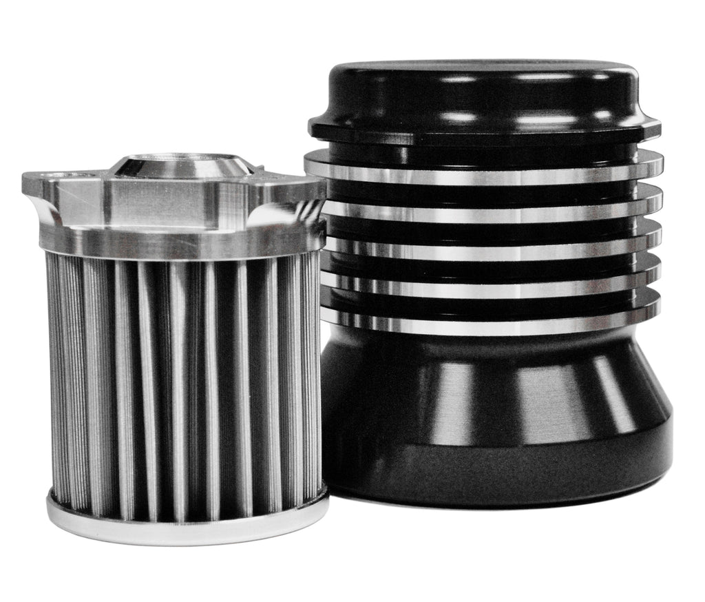 Stainless-steel Micronic Oil Filter - Black/Contrast cut