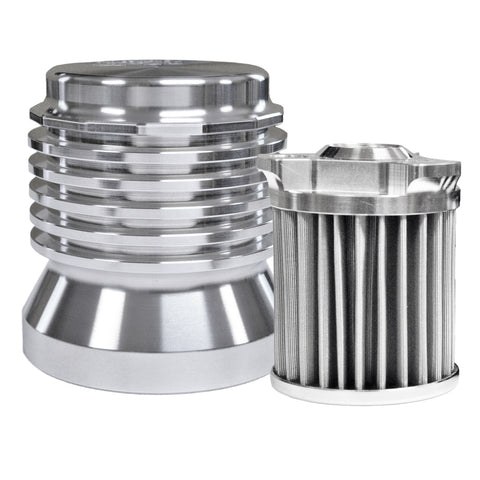 Stainless-steel Micronic Oil Filter - Billet Silver
