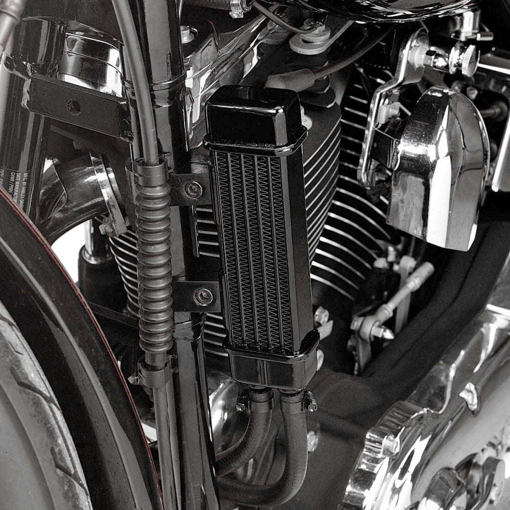 Harley Engine Cooler : Jagg slimline row oil cooler system for harley davidson