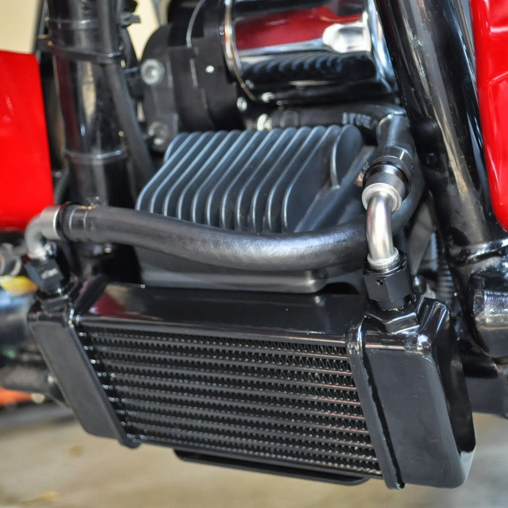 Jagg LowMount 10-row Oil Cooler System for Harley-Davidson ...