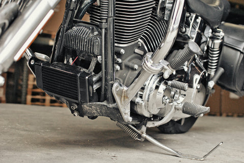 Jagg Fan-isted LowMount 10-row Oil Cooler System for Harley ...