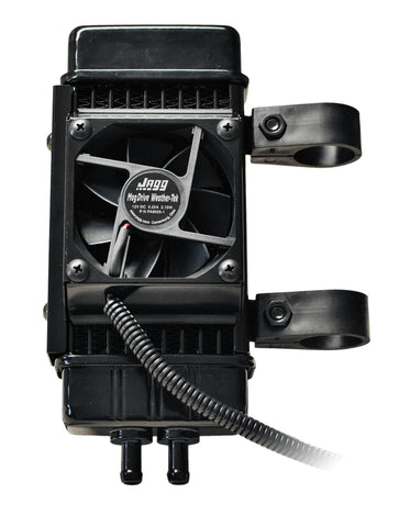 Fan-assisted Vertical 10-row Oil Cooler System