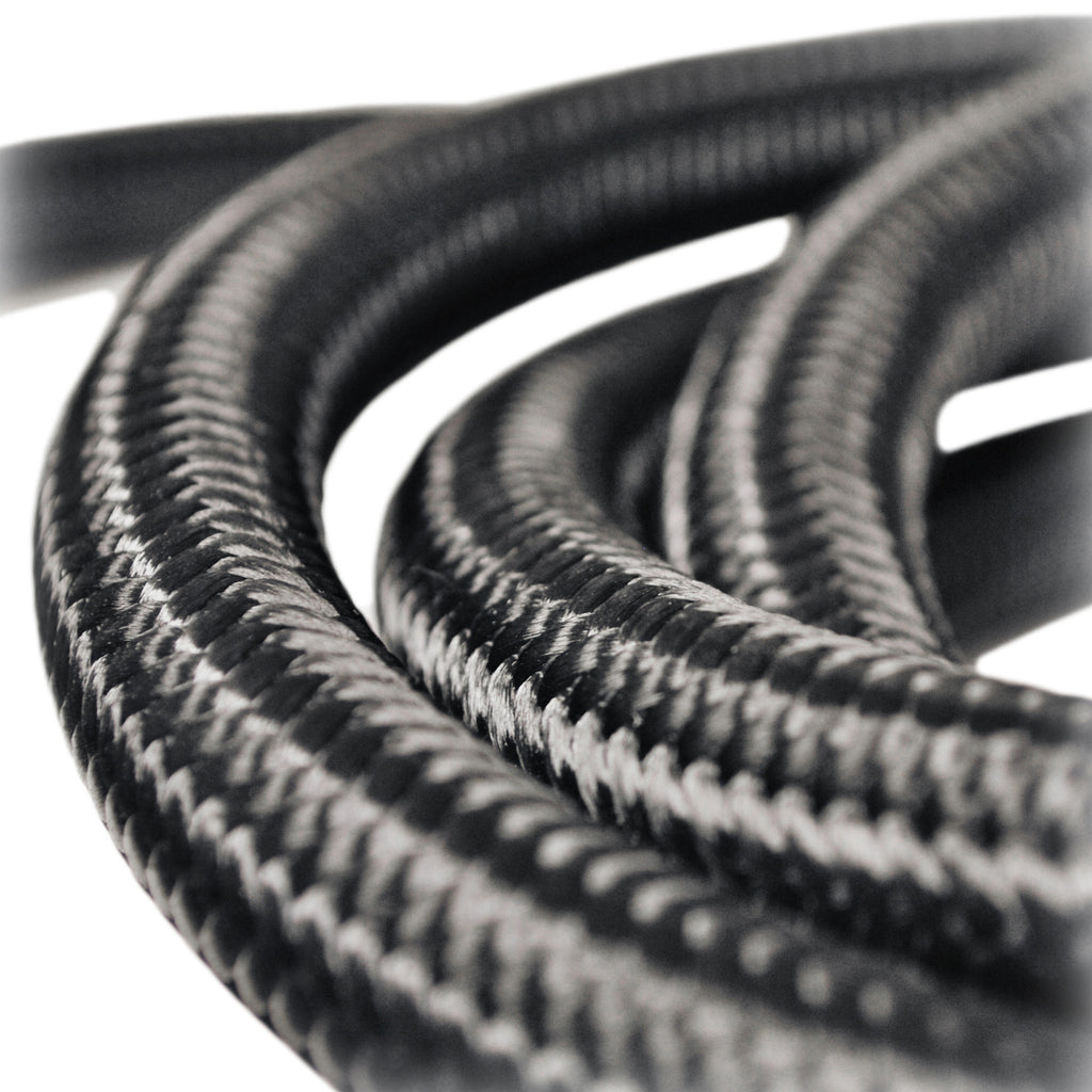 Hose (per-foot) - Black Lightweight-fiber braided