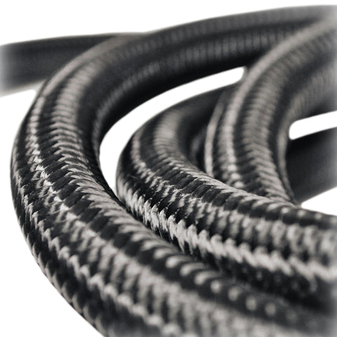 Hose - Black Lightweight-fiber braided