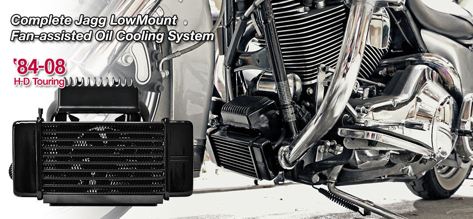 Dual Cool Oil Cooler Black,for Harley Davidson,by V-Twin