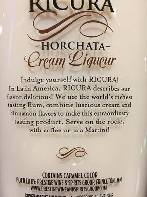 Ricura Horchata Cream Liquer 750ml