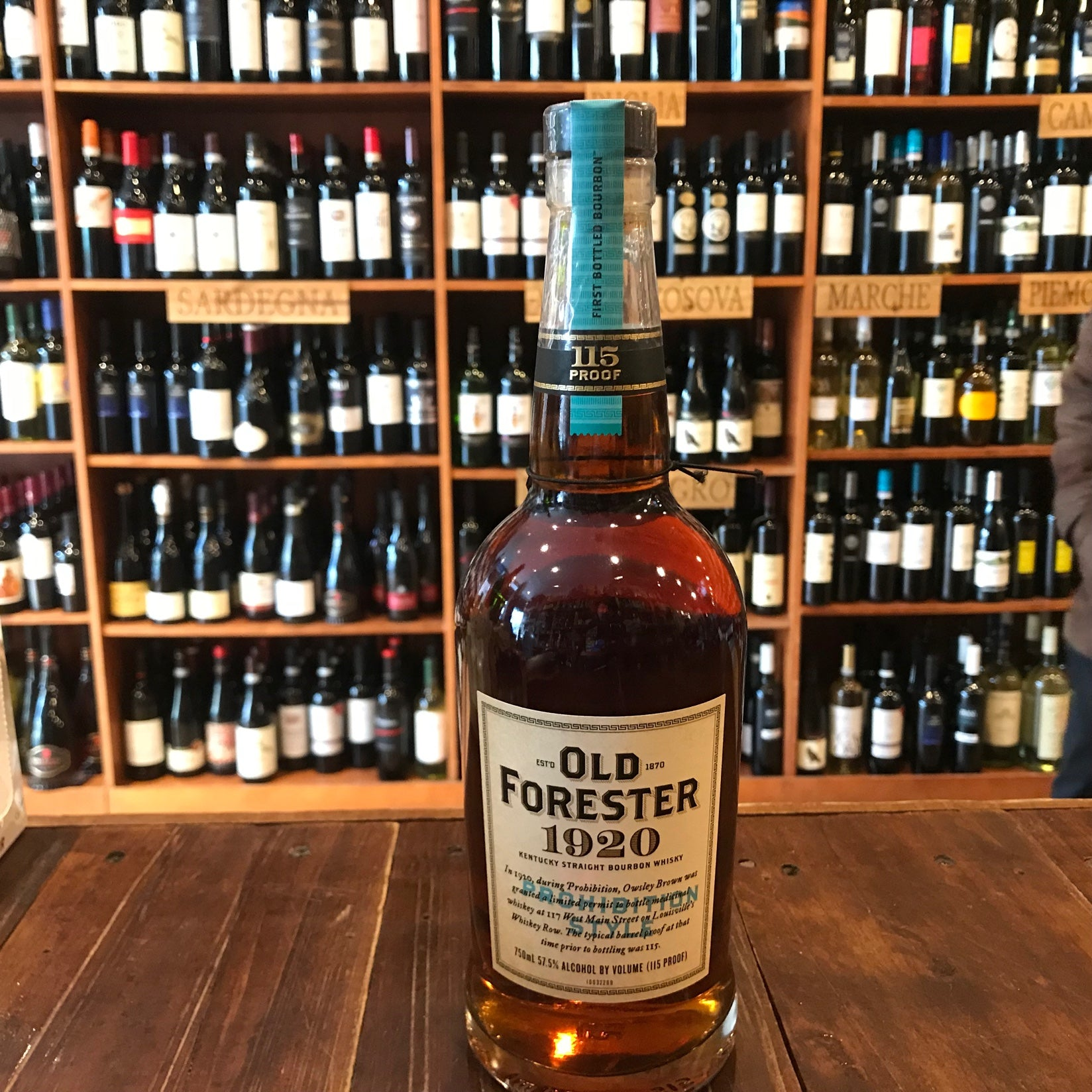 Old Forester 115º Prohibition Style 750mL 1920