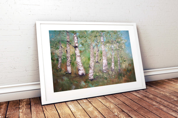"Birch trees in Summer - oil painting 20"" x 24"", sold without a frame"