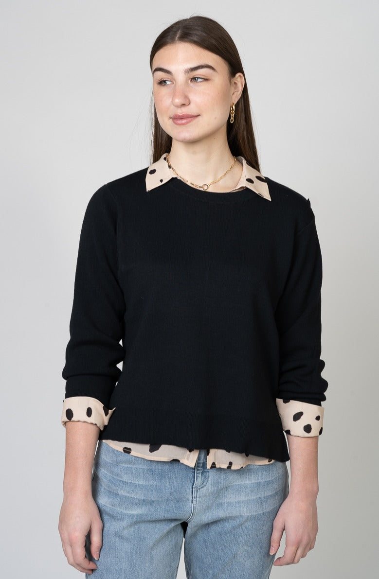 Velvet L/S Crew Neck Sweater