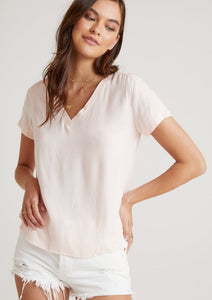Bella Dahl V-Neck Tee Sunkissed Coral