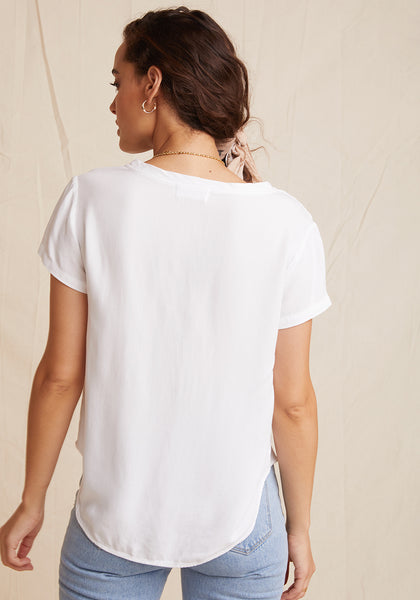 Bella Dahl V-Neck Tee - White