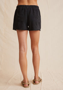 Bella Dahl Frayed Hem Short - Vintage Black