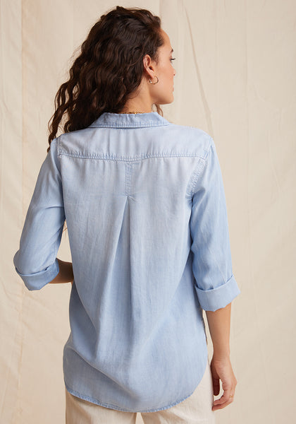 Shirt Tail Button Down - Sunbleach Wash