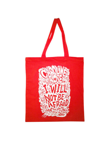 I Will Not Be Afraid Tote Bag