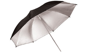 "Savage 36"" Silver/Black Umbrella"