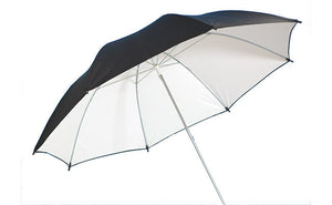 "Savage 36"" White/Black Umbrella"