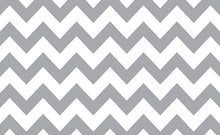 Load image into Gallery viewer, Savage Gray & White Chevron Printed Background Paper