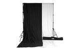 Savage Black & White Solid Colored Muslin Backdrop Kit