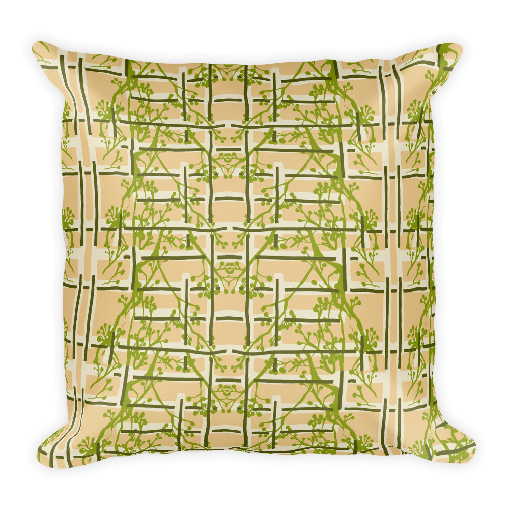 Tea Garden Floral Throw Pillow