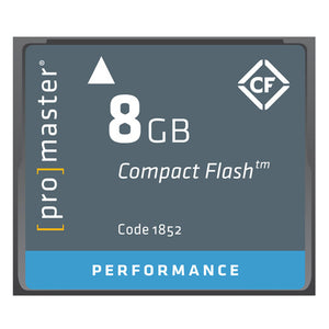 Promaster Compact Flash 8GB 500x Performance