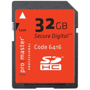 Promaster Professional SDHC 32GB Memory Card
