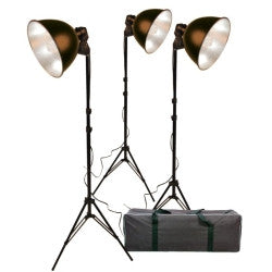 Promaster Basic 3-Light Studio Reflector Kit