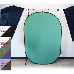 Promaster 6x7 Pop-Up background green/blue - Chromakey Green/Chromakey Blue