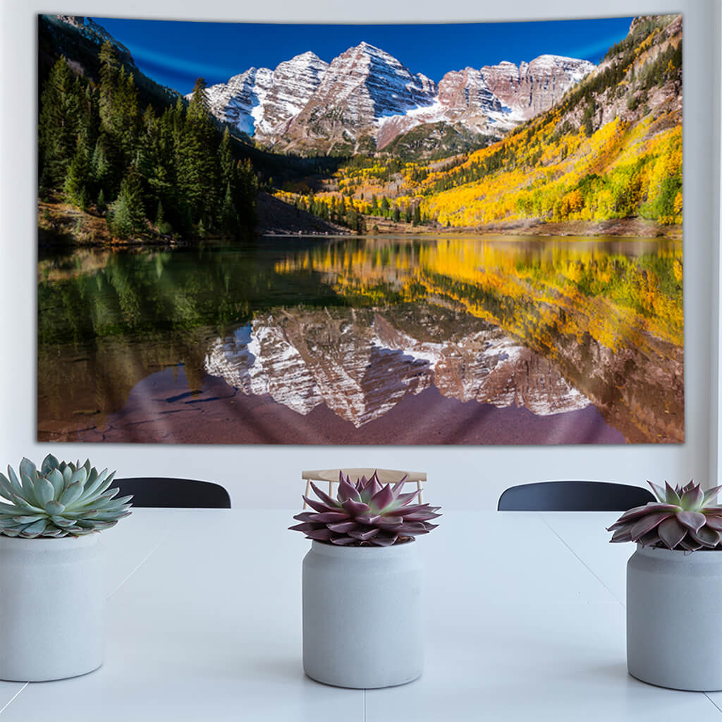 Maroon Bells by Third Eye Tapestries
