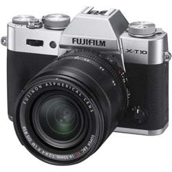Fujifilm X-T10 w/XF 18-55mm Lens Kit - Silver Camera