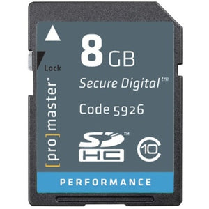 Promaster Standard SD 8GB Memory Card
