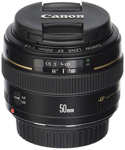 Canon EF 50mm f/1.4 USM Standard Lens for Canon SLR Cameras - Fixed