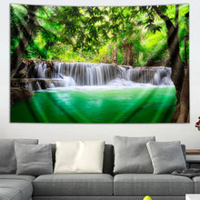 Load image into Gallery viewer, Kanjanaburi Waterfall by Third Eye Tapestries