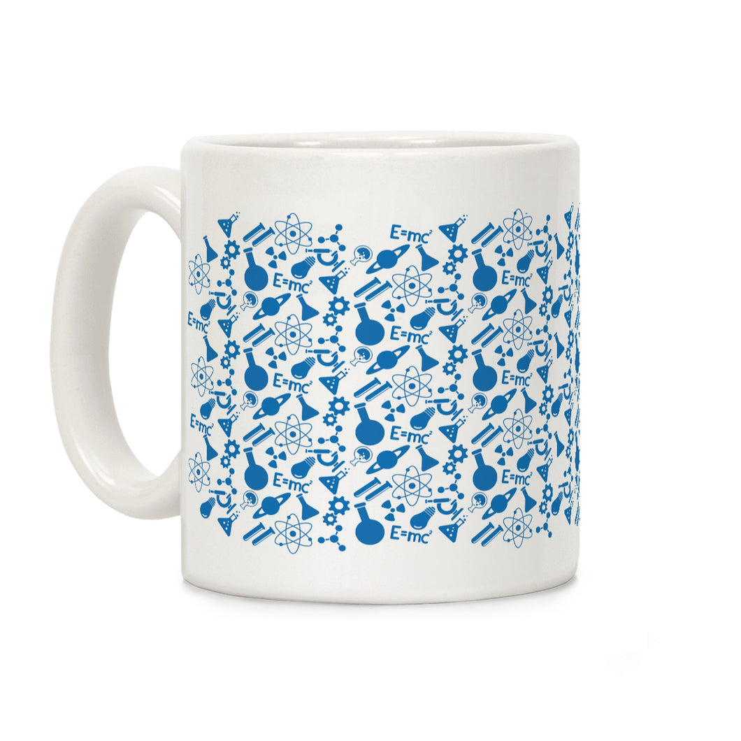 Science Pattern Ceramic Coffee Mug by LookHUMAN