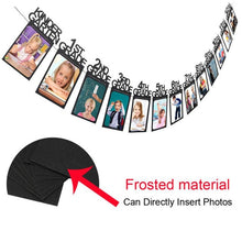 Load image into Gallery viewer, Child Graduation Party Photo Frame Bunting Black