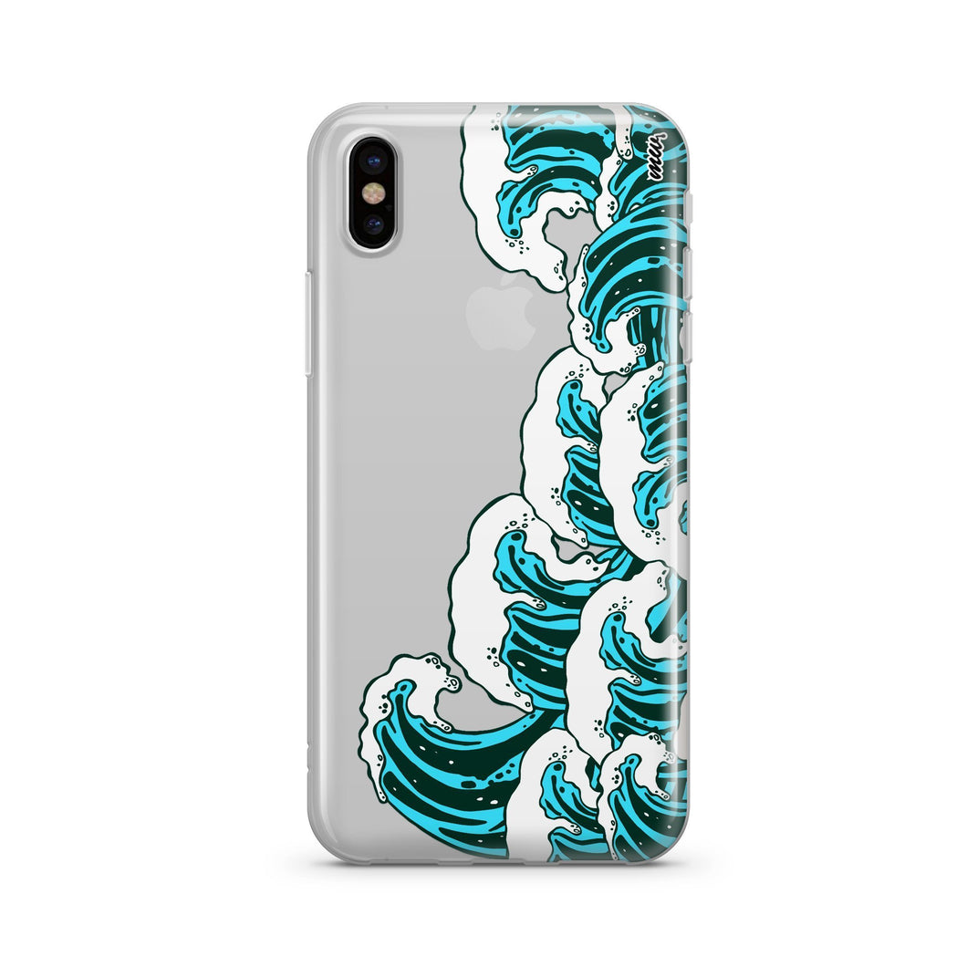 Full Great Wave Off Kanagawa - Clear TPU Case