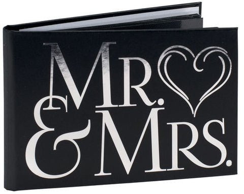 Malden 4x6 Mr. & Mrs. Black Brag Book - 40 Prints