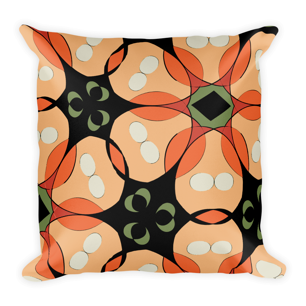 Tropical Floral Throw Pillow