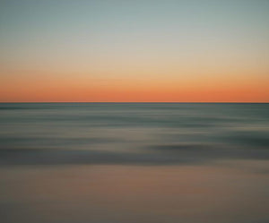 Sunset Front Seats Abstract Seascape Print
