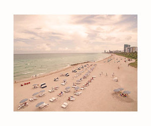 A South Beach Perspective Aerial Fine Art Print