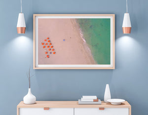 Dare to be Different Beach Aerial Fine Art Print