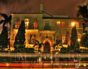 Gianni Versace Mansion Ocean Drive Night Art Print