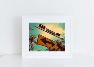 Ocean Drive Both Ways Street Sign Art Print